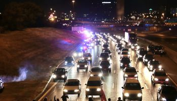 Mass arrests made after protesters briefly close Highway 40 in St. Louis