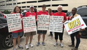 Teacher's Rally In Downtown Raleigh