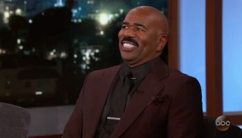 Steve Harvey during an appearance on ABC 'Jimmy Kimmel Live!'