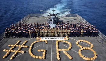 Destroyer HMS Dragon strikes again with another drug haul