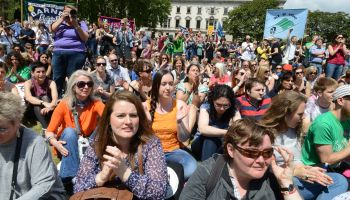 Teachers rally as the NUT holds national strike