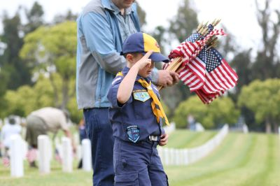 Scout Memorial Day Flag Placement Ceremony