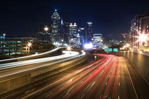 USA, Georgia, Atlanta skyline, dusk