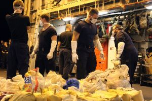 HMS Dragon deals second blow to drug runners in under a fortnight with £1.6m Gulf narcotics haul