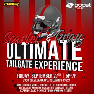 Boost Mobile Ultimate Tailgate 9/27 Remote