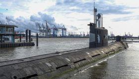 Submarine U-434 in Hamburg