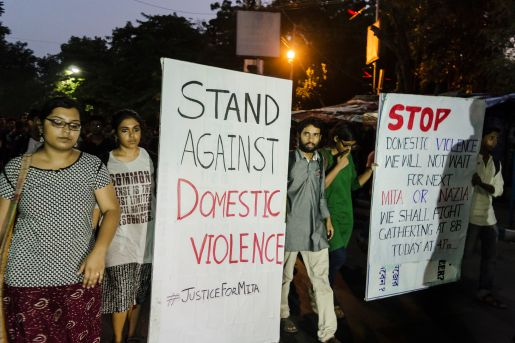 A protest by the students of Jadavpur University against...