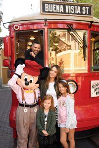 Jessica Alba And Family At Disney California Adventure