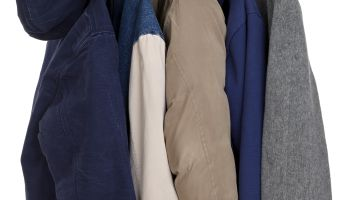 Coats Hanging on Rack
