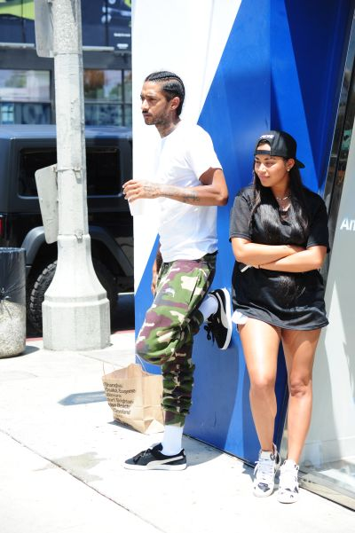 Nipsey Hussle and Lauren London after car accident