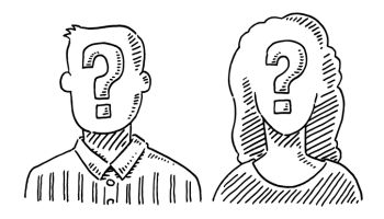 Unrecognizable People Question Mark Symbol Drawing