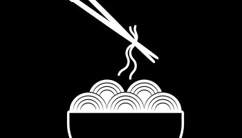 Bowl and noodle icon