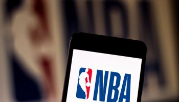 In this photo illustration a National Basketball Association...