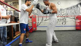 Nick Cannon Visits Amir Khan At The Wild Card Gym In Hollywood
