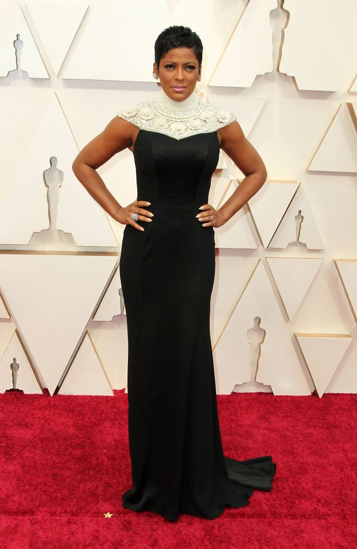 Tamron Hall in Theia Couture