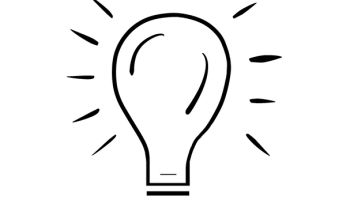 Drawing of a light bulb