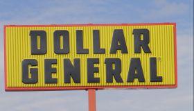 Dollar general sign.