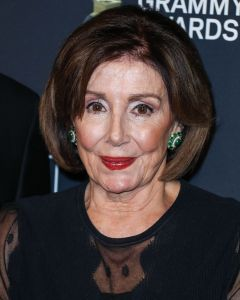 Nancy Pelosi arrives at The Recording Academy And Clive Davis' 2020 Pre-GRAMMY Gala held at The Beverly Hilton Hotel on January 25, 2020 in Beverly Hills, Los Angeles, California, United States.