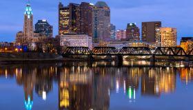 Early Morning, Skyline, Columbus, Ohio, America