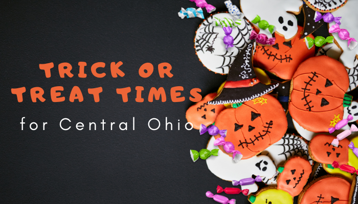 Trick or Treat Times for the Columbus Metro Area